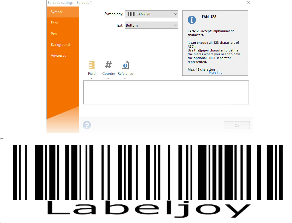 Labeljoy barcode generator
