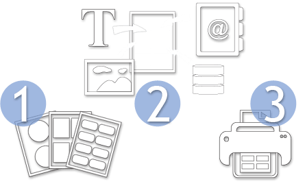 3 Steps Print Label software