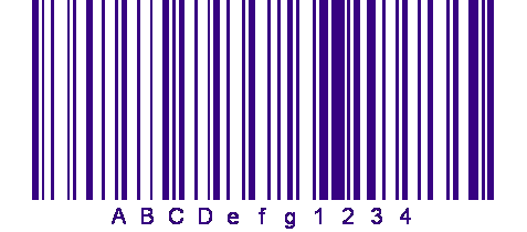 Barcode blue bars