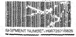 Damaged barcode