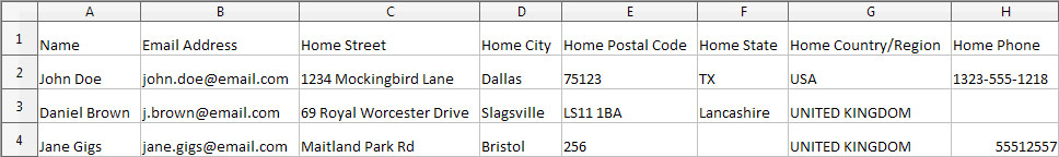 Excel data connected to labels