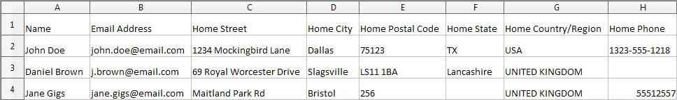 Excel data verbonden met de labels