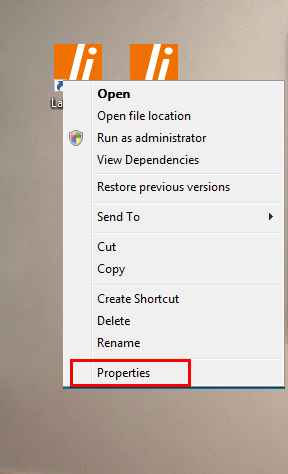 Proprieties of shortcut