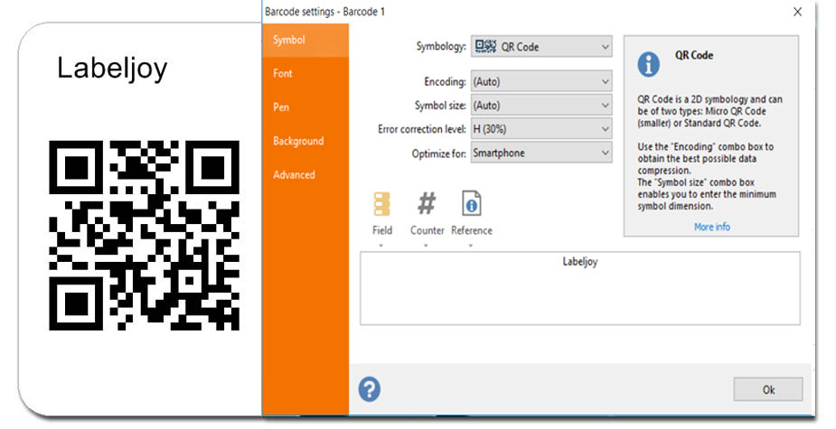 Create Qr Code offline with Labeljoy