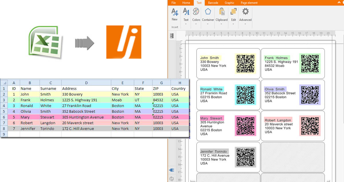 make qr code from databases