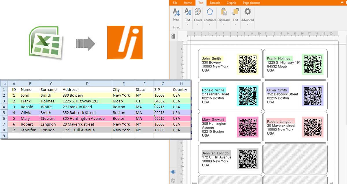maken qr code uit databases