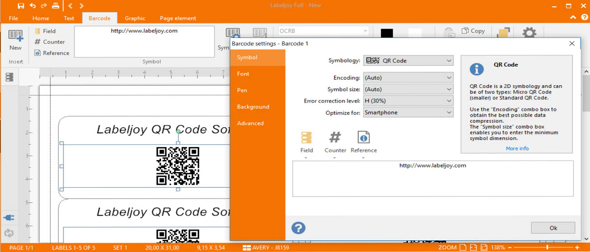 Qr code software labeljoy labels printing software barcodes labeljoy qr code software stopboris
