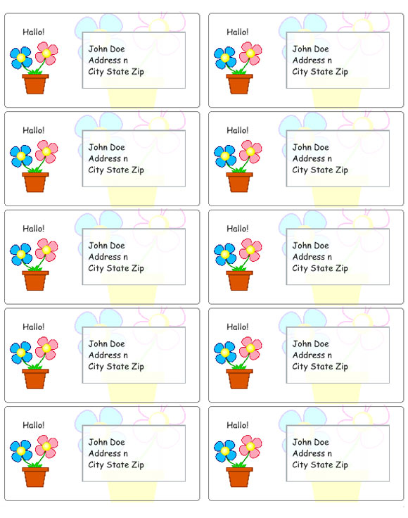 Flower Address Labels  Address Label Templates
