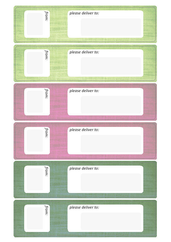 From   To Labels To Write Address  Address Label Templates