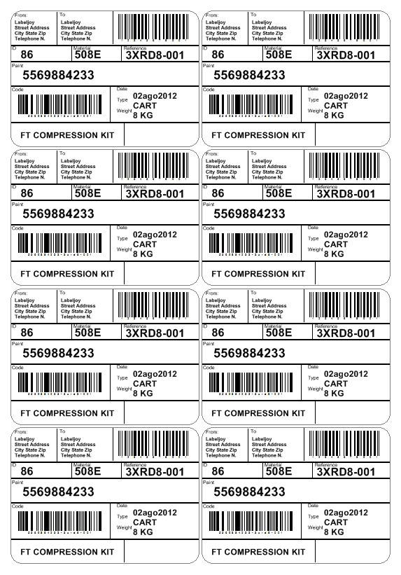 Automotive Etiketten mit Strichcode Etiketten Vorlagen ...