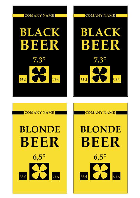 Plantilla de etiqueta de cerveza | Realice sus propias