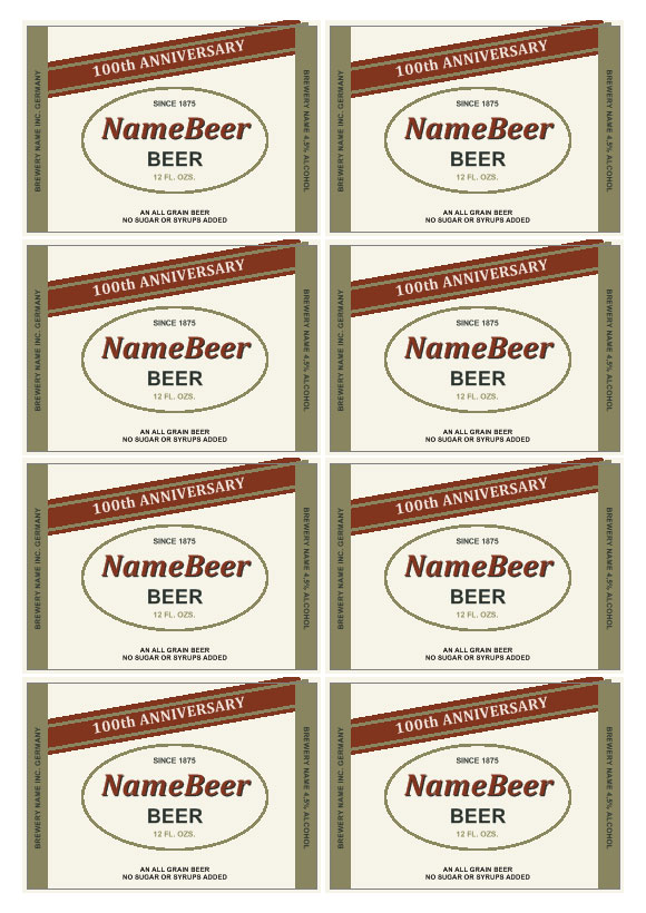 Custom Beer Label Template