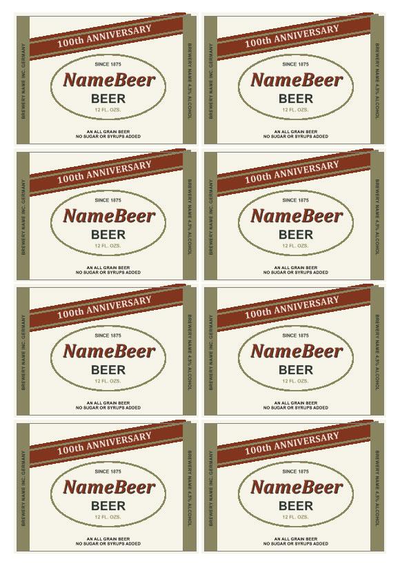 Molto Etichette birra | Personalizza la tua etichetta per la birra IV01