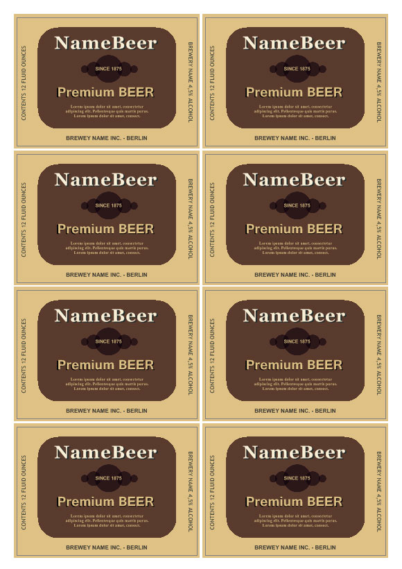 Beer Labels Labeljoy Print Label Software And Barcode Label Maker - Beer bottle label template