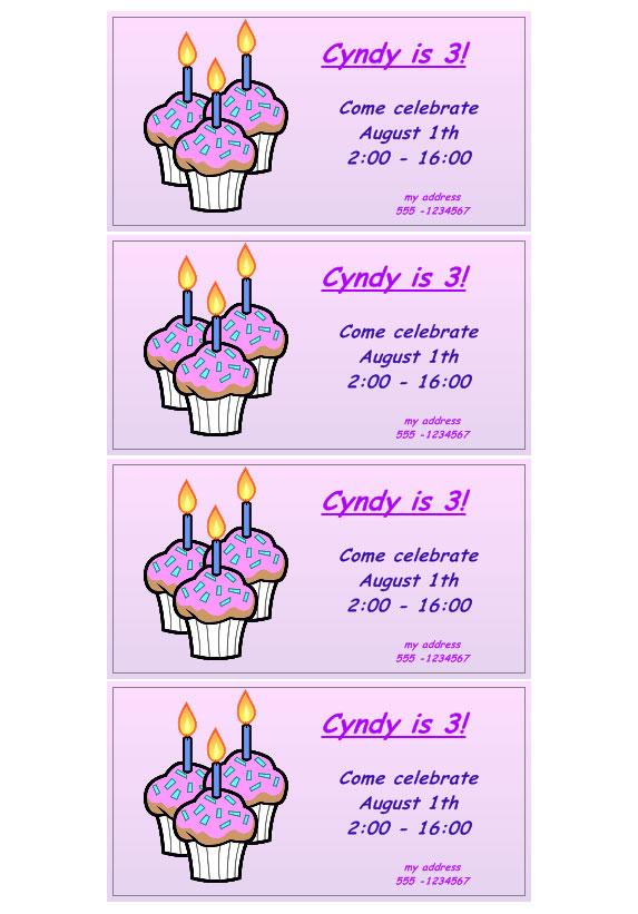 till födelsedag Inbjudan till Födelsedag « Labeljoy | Labels printing Software  till födelsedag