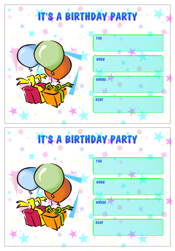 Personalized Birthday Party Invitation Templates