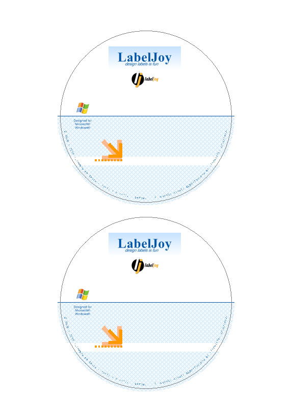 Professional CD Label. Download  Free Label Templates Download