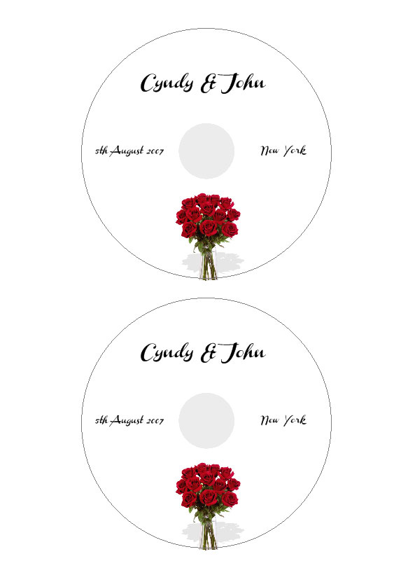 template for cd labels