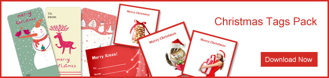 New free templates for Christmas cards