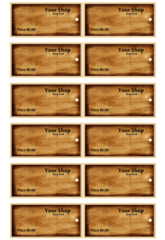 Clothing Tags – Clothing Tag Template
