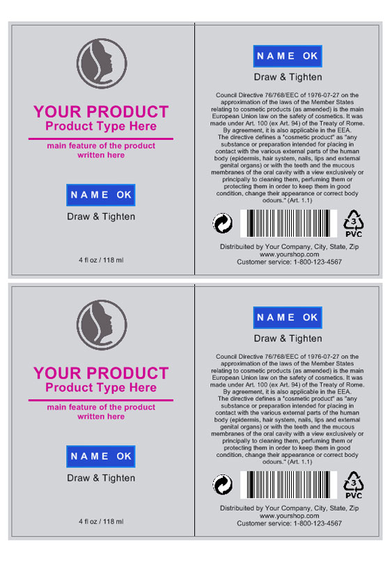 Cosmetic Label Template – Product Label Template