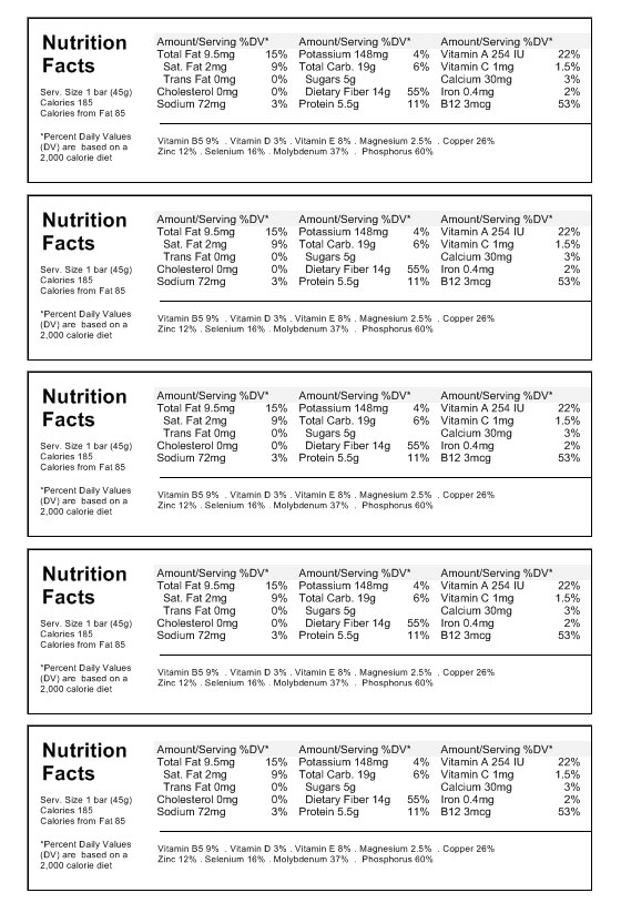 Nutrition label labeljoy labels printing software for Nutrition facts table template