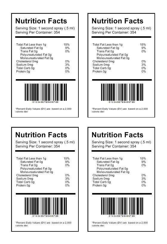 nutrition label template download create nutritional labels. Black Bedroom Furniture Sets. Home Design Ideas
