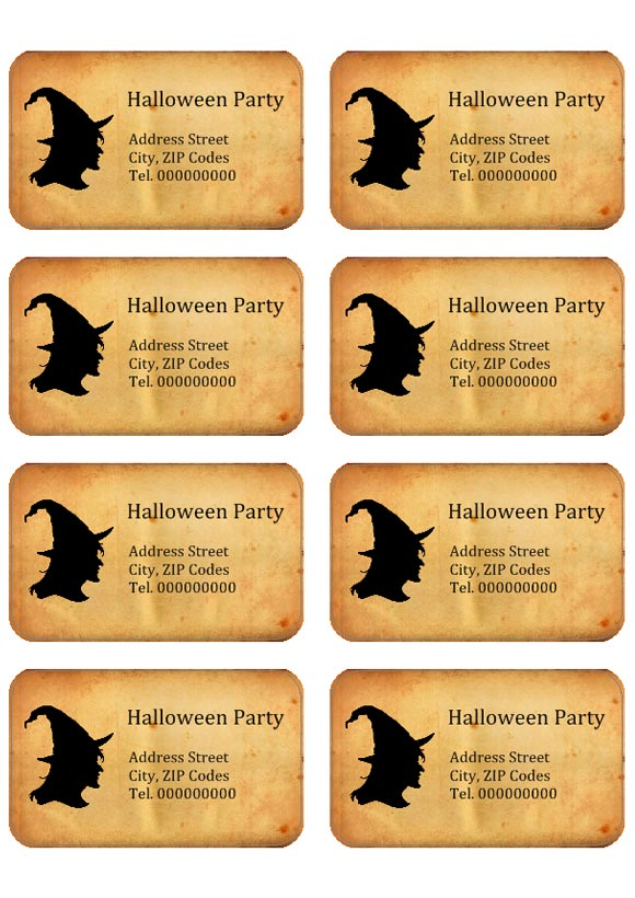 Halloween Stickers & Labels to print