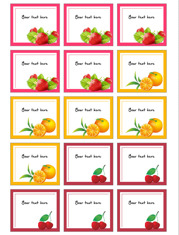 etichette per marmellate da