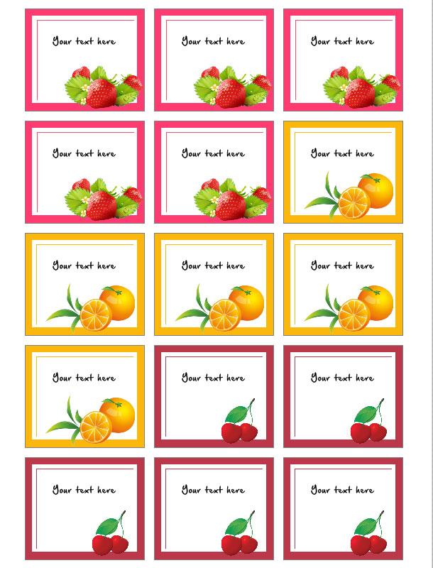 jar label templates