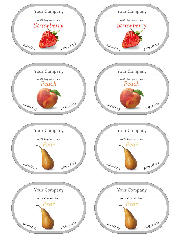 Jam Label Template Free