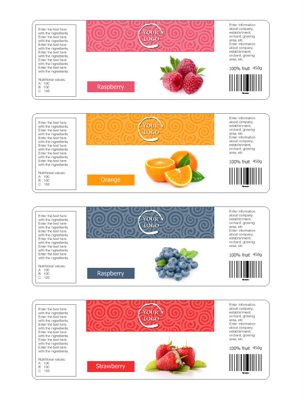 Complete Label For Jar With Ingredients  Ingredients Label Template