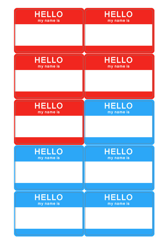 Candid image inside free printable name badge template
