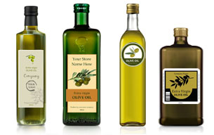 Olive oil label templates