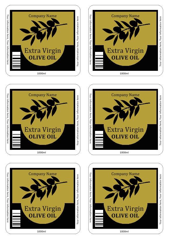 Super Etichette Olio da stampare OV47