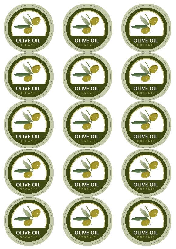 Popolare Etichette Olio da stampare BG01