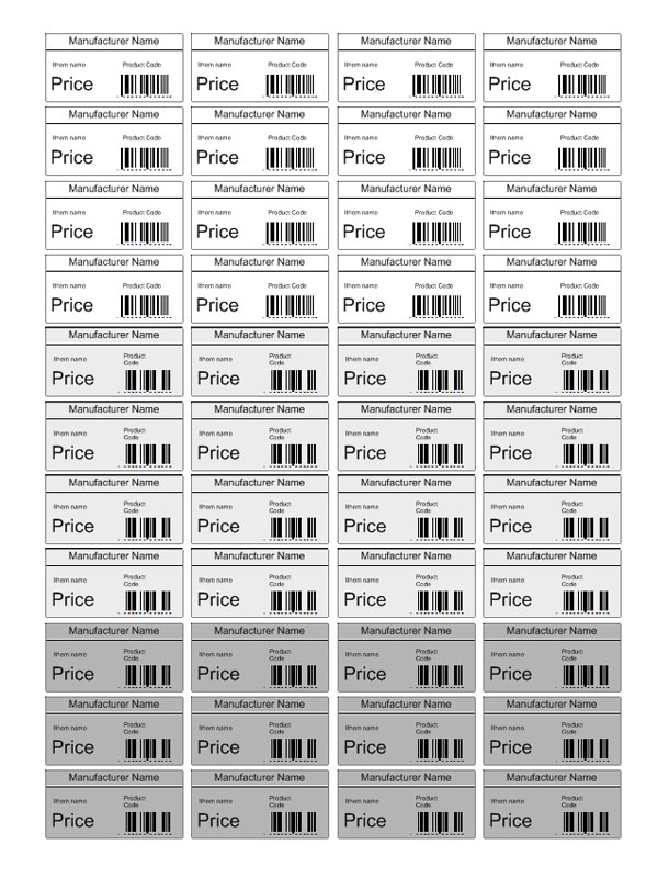 Price tag template free pricing label templates for barcode software