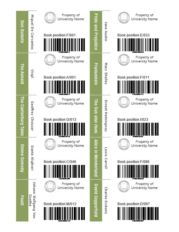 Molto Tesserini studenti e etichette per le biblioteche | Labeljoy  GC33