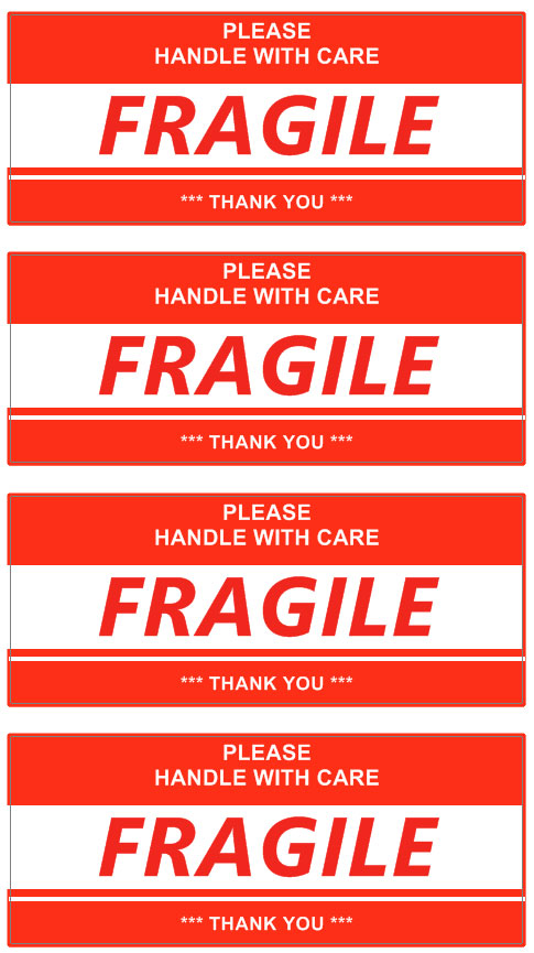 image regarding Printable Fragile Label called Shipping and delivery Label Template Personalized addess Labels Template