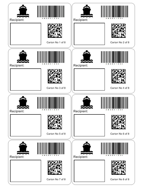 Shipping Label Template | Custom addess Labels Template
