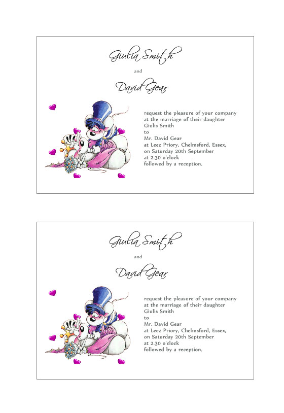 Wedding Invitation Template For Free | Labeljoy Templates