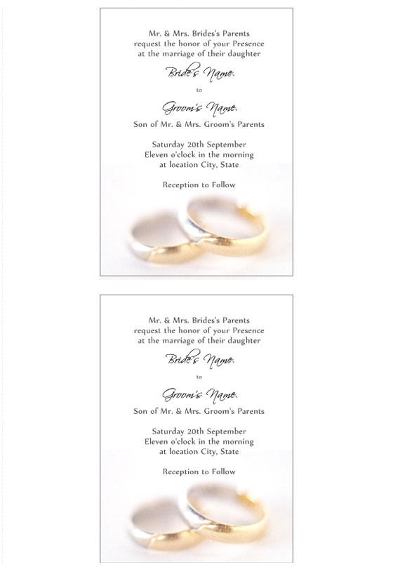 Famoso Inviti Matrimonio da stampare LV71