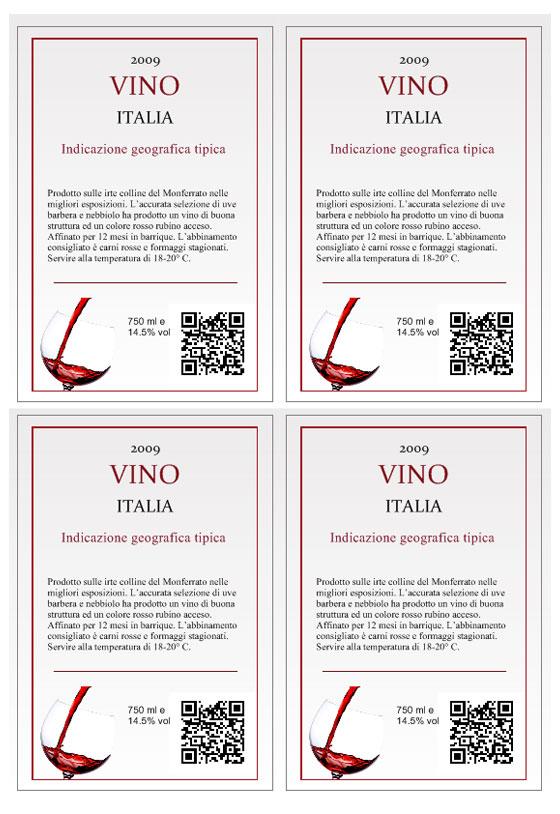 Favoloso Crea etichette vino personalizzate OK19