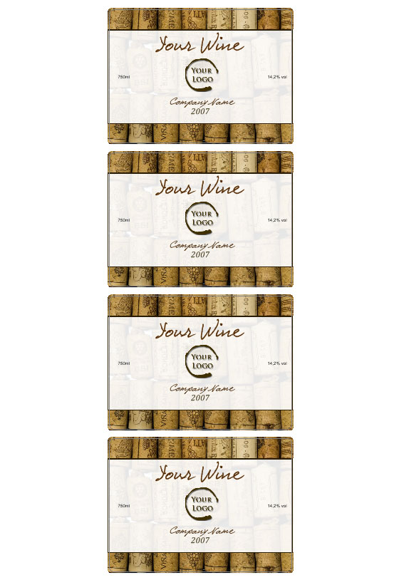 Wine label template Personilize your own wine labels