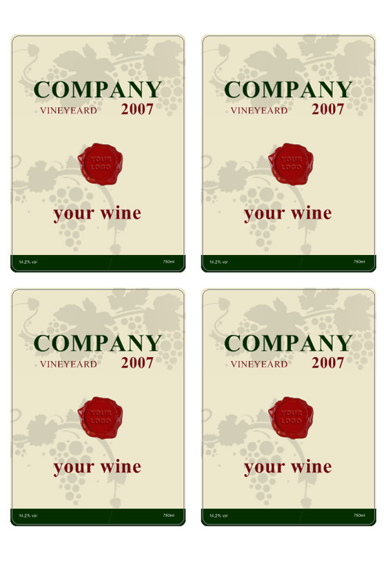 Nice White Wine Label Template  Free Wine Label Template