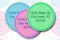 Circle address labels