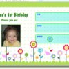 1 modelo de convite de aniversário