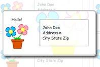 Цветок адресных наклеек