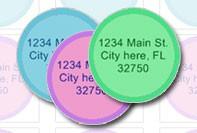 Etiquetas de direcciones circulares