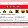 Modelo de etiqueta de perigo